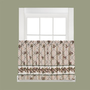 """Pinecone Plaid kitchen curtain 36"""" tier from Saturday Knight Lts"""