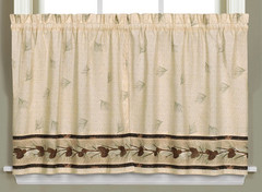 """Pinehaven kitchen curtain 36"""" tier from Saturday Knight"""