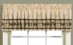 Pinehaven kitchen curtain valance from Saturday Knight