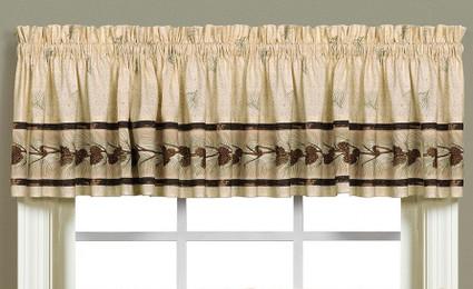 Pinehaven kitchen curtain valance from Saturday Knight