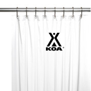 KOA Logo Shower Curtain - Black on White