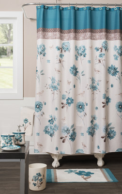 Blue Note Shower Curtain & Bathroom Accessories from Saturday Knight