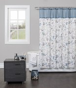 Passel Blue Shower Curtain & Bathroom Accessories from Saturday Knight