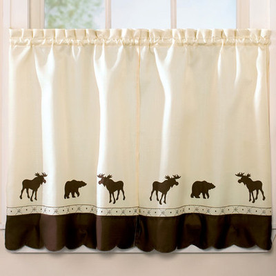 """Forest kitchen curtain 36"""" tier"""