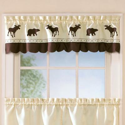Forest kitchen curtain valance