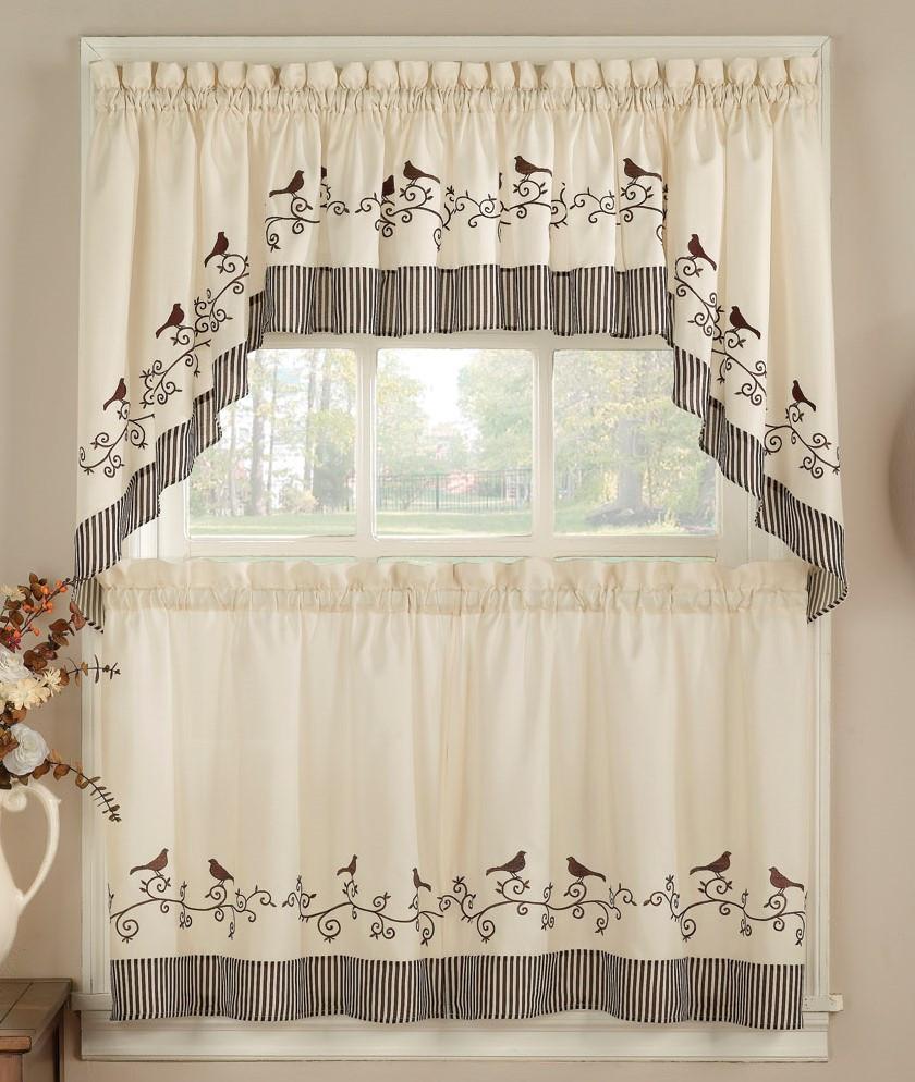 244 & Birds Kitchen Curtains