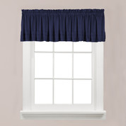 Holden kitchen valance - Navy from Saturday Knight