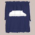 Holden Navy Blue Kitchen Curtain from Saturday Knight