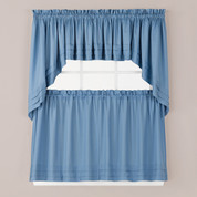 Holden Smoke Blue Kitchen Curtain from Saturday Knight