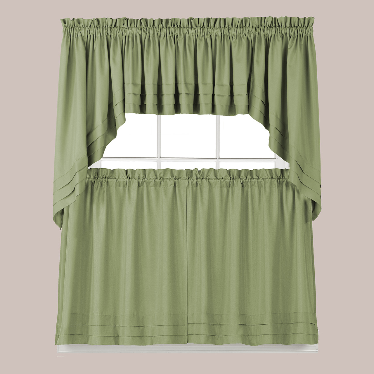 Holden Kitchen Curtain - Sage Green
