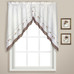 Gingham Floral Kitchen Curtain swag in color Taupe from United Curtain