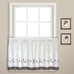 Gingham Floral Kitchen Curtain tier in color Taupe from United Curtain