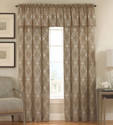 Carlyle Rod Pocket Curtain panel from Lorraine Home