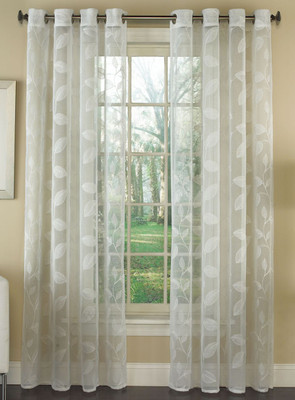 Avery Floral Lace Grommet Top Curtains from Lorraine Home