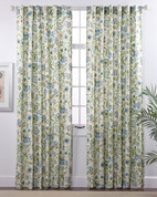 Daphne Linen Rod Pocket Curtains - Surf
