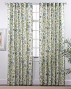Daphne Lined Rod Pocket Curtain panels - Surf