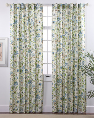 Daphne Lined Rod Pocket Curtain panels - Surf
