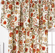 Daphne Lined Rod Pocket Valance - Crimson
