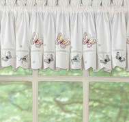 Monarch Butterfly kitchen curtain valance