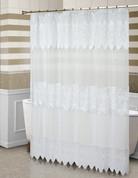 Valerie Sheer Macrame Shower Curtain - White