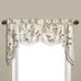 Jewel Embroidered Austrian Valance - White from United Curtain