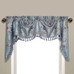 Jewel Embroidered Austrian Valance - Blue