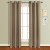 Mansfield Grommet Top Curtain Panel - Mocha