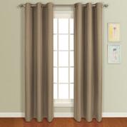 Mansfield Grommet Top Curtain Panel - Mocha