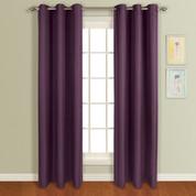 Mansfield Grommet Top Curtain Panel - Plum