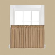 "Hopscotch kitchen curtain 24"" tier - Tan"