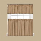 Hopscotch Kitchen Curtain - Tan
