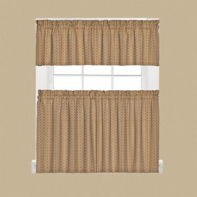 Hopscotch Kitchen Curtain - Tan