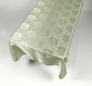 Damask Fabric Tablecloth - Sage