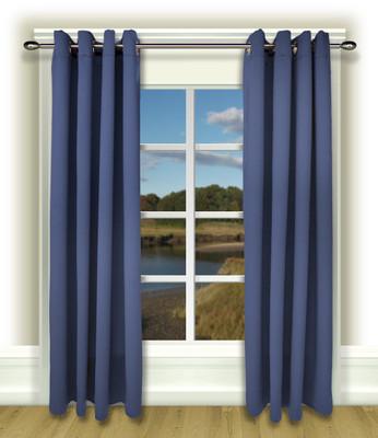 Ultimate Blackout Grommet Top Curtains blue