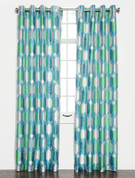 Felix Printed Grommet Top Curtain Panel - Cobalt
