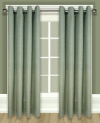 Grasscloth Lined Grommet Top Curtain Panel - Sage