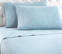 Micro Flannel Solid Sheet Set from Shavel - Spa Blue