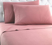 Micro Flannel Solid Sheet Set from Shavel - Frosted Rose