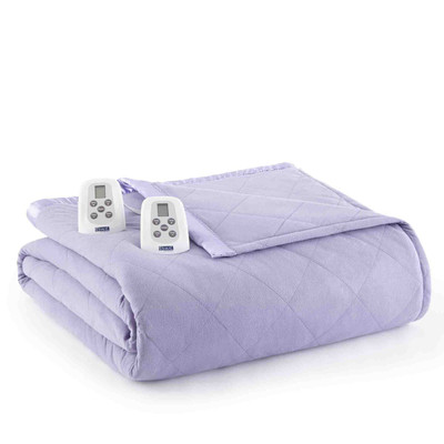 Shavel Micro Flannel Heated Blanket - Amethyst