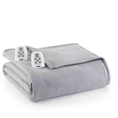 Shavel Micro Flannel Heated Blanket - Greystone