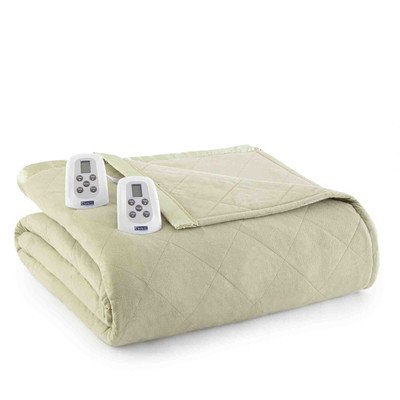 Shavel Micro Flannel Heated Blanket - Meadow