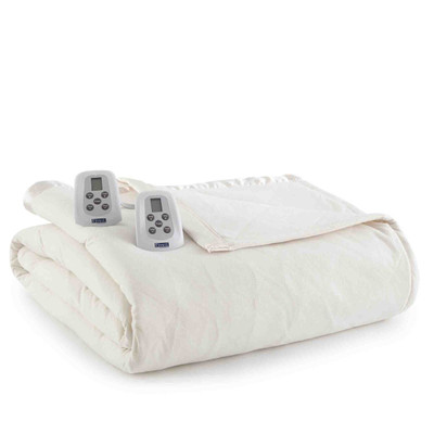 Shavel Micro Flannel Heated Blanket - Ivory