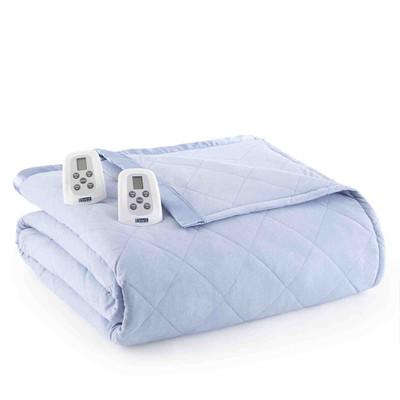 Shavel Micro Flannel Heated Blanket - Wedgewood Blue