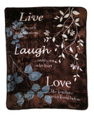 Live Laugh Love Blanket Throw by Shavel