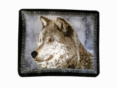 Snowy Wolf Blanket Throw from Shavel