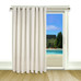 New Castle Lined Grommet Top Patio Panel - White