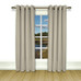 New Castle Lined Grommet Top Curtain Panel - Grey
