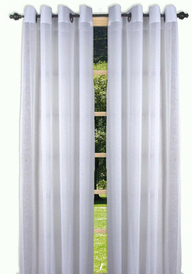 Bal Harbour Semi-Sheer Grommet Top Curtain Panel - White