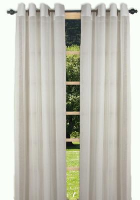 Bal Harbour Semi-Sheer Grommet Top Curtain Panel - Ivory