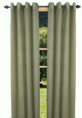 Bal Harbour Semi-Sheer Grommet Top Curtain Panel - Sage from Ricardo